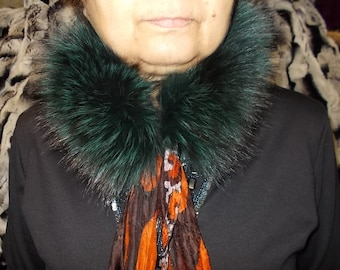 Real fur Genuine fur collar trim Shoulder Scarf handmade Wrap fur Scarves  fur fox collar fur trim gift for her handmade gift fur headband 8472daf2579