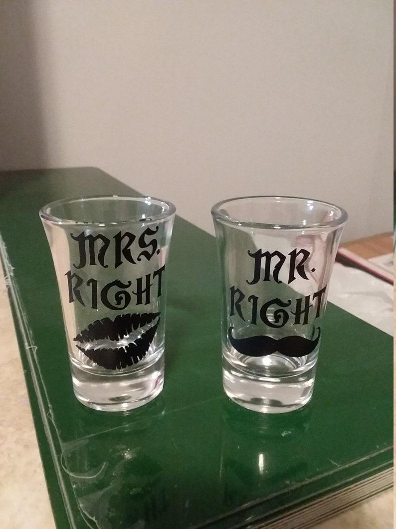 wedding shot glasses mr and mrs shot glasses mustache shot glass shot glasses Mr right and mrs right shot glasses lips shot glass