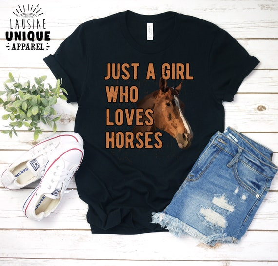 PERSONALISED PRINTED LADY FIT T-SHIRT RIDER /& HORSE NAME RIDERS GIRLS GIFT TOPS