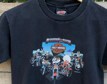 651ebd016 Vintage Looney Tunes Harley Davidson biker t-shirt Running with the Pack