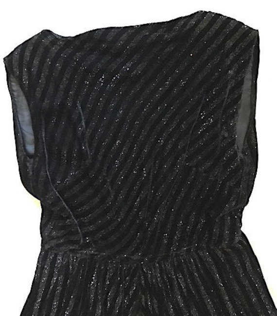 Black and Silver Velvet Palazzo Jumpsuit