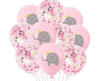 12 Pieces Elephant Balloons Cute Pink Elephant Foil Balloons Pink Elephant Shape Aluminum Balloons for Birthday Party Decoration Baby Shower Supplies