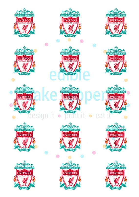 Liverpool FC Football CupcakeToppersIcing Sheet Wafer PaperEdible Print