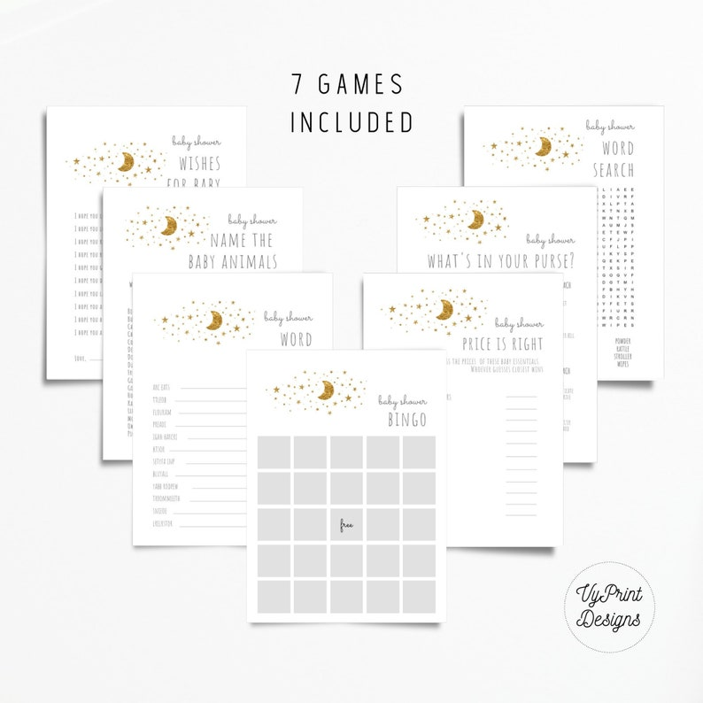 Twinkle Twinkle Little Star Baby Shower Game Package, Instant Download  Printable Baby Shower Games, Wishes for Baby, Price is Right, TWL02
