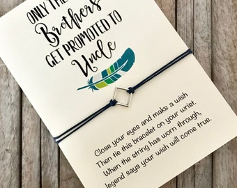 Uncle to be, New uncle gift, Best uncle, Pregnancy anouncement, Wish bracelet, Gift for uncle, Uncle gift, Brother gift, Brother bracelet