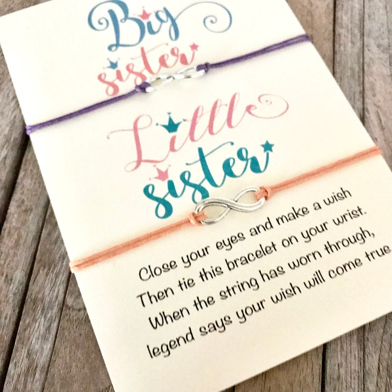 Big LIttle, Big little sorority, Sister bracelet, Sister gift, Wish  bracelet, Sorority sister gift, Gift for sister, Little sister gift