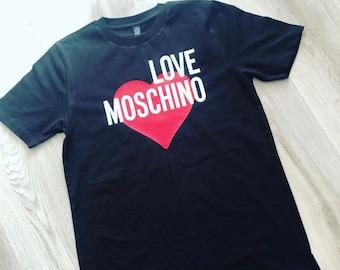 46906a7b001b5f LOVE MOSCHINO Inspired Printed Tee