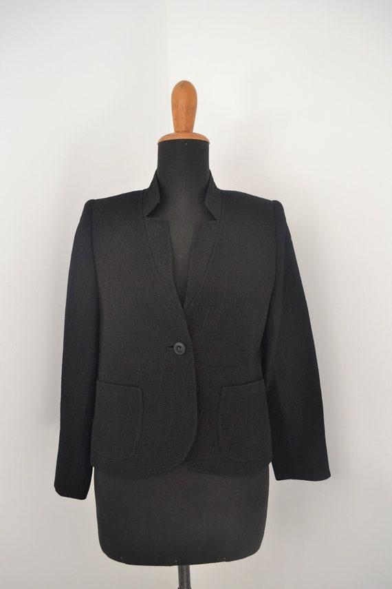 Italian tailored jacket | black vintage blazer | i