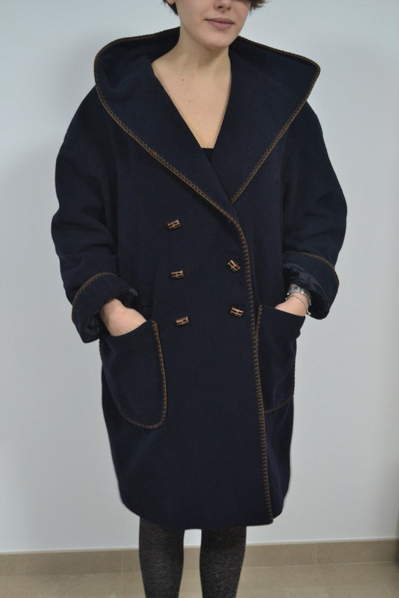 Vintage wool woman's coat  / oversized made in Ita