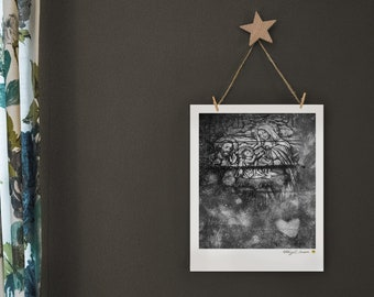 Fine Art Print of Nativity with Christmas Story