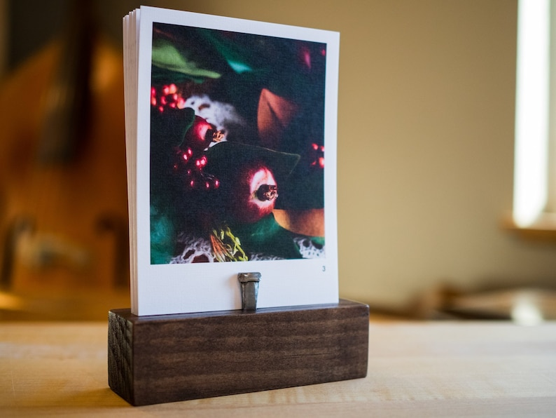 Advent Calendar Art Prints With Stained Wood Base image 0