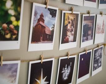 Advent Calendar Art Cards Wall Hanging