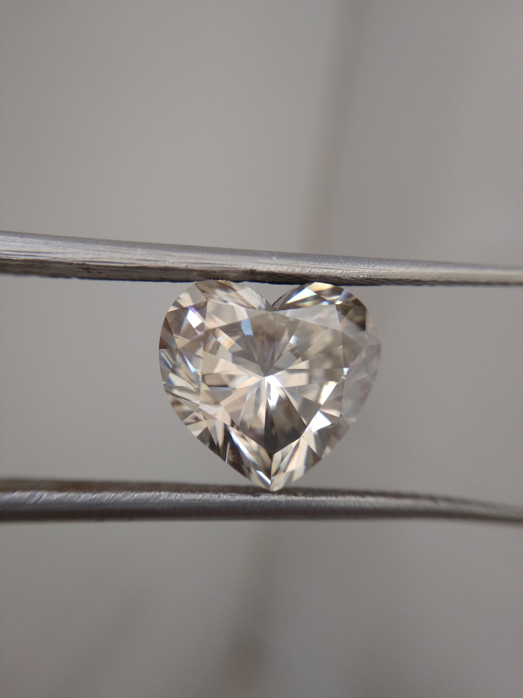 1,00 1,00 1,00 carat couleur blanc coeur forme taille choix véritable lâche Moissanite VVS1/2 pour les bijoux bague/pendentif 6c352f