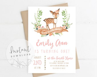 birthday invitation template etsy