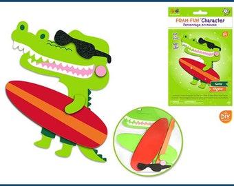 a7c3820899657c Krafty Kids Craft Kit - DIY Foam-Fun Character Kit - Alligator