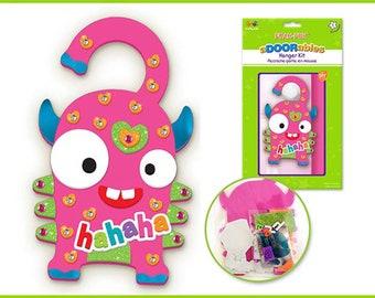 8ca7abeb90bbf7 Kids DIY Craft Kit - Fun Foam Door Hanger Kit - HaHaHa
