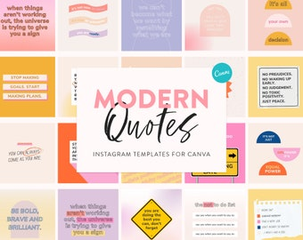 70+ Modern Quotes Templates for Instagram - Canva Quotes Templates for Coaches, Small Biz & Brands - Instagram Small Biz Marketing Template