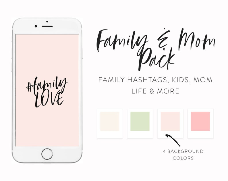 Family Instagram Highlights - 190+ Instagram Icons as Highlight Covers -  Highlights Icons for Moms and Family Bloggers - Handwritten Icons
