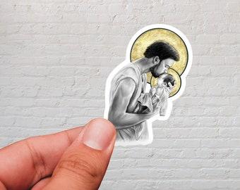 St. Joseph & Newborn Jesus Sticker