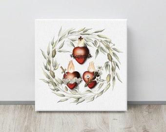 Three Hearts Canvas