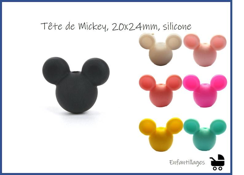 Mickey head Bead silicone 12mm