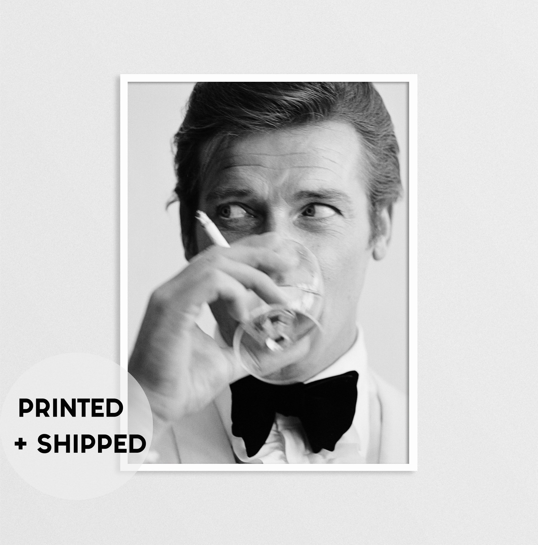Lzarge Black And White James Bond Posters