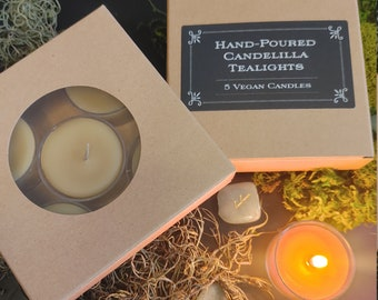 Hand-Poured Candelilla Tealights - Vegan-Friendly