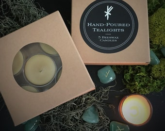 Hand-Poured Beeswax Tealights