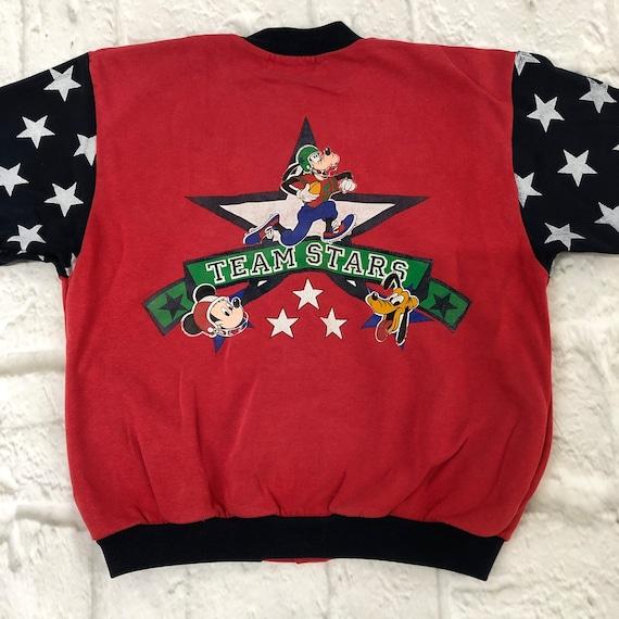 Vintage Unisex Kids Childrens Disney Varsity Sweatshirt Jacket Top 1990s Age 7-8 Marks /& Spencer UK