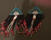 Hand beaded Halloween Vampire Earrings