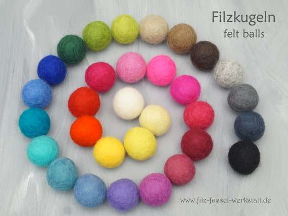 Felt balls wool felt felt beads felt wool mobile 100/% wool pom pom many sizes and great colors felt garland for crafting