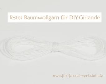 firm cotton yarn 4 m, for DIY garlands