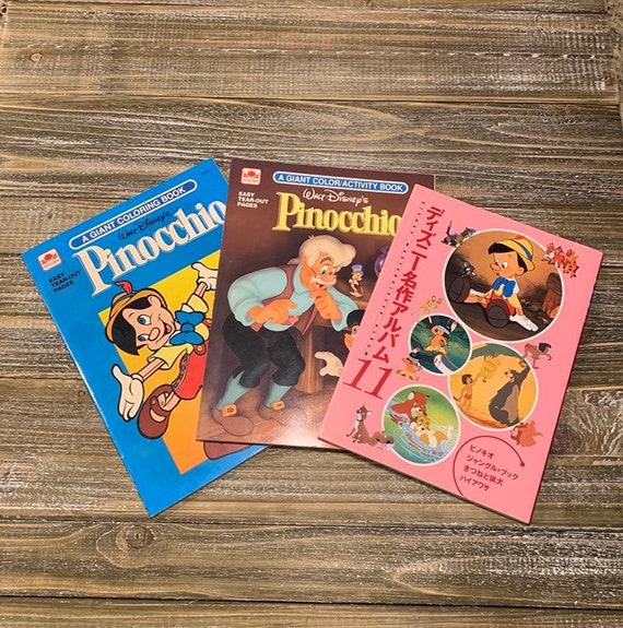 - Disney Coloring Book Set Vintage Pinocchio Pinocchio Etsy