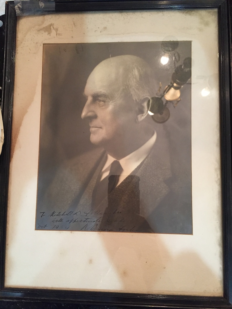 Antiqued signed photo of William Cameron Forbes 1934