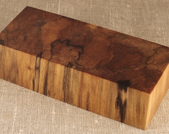 5455c45398e Stabilized Shpalt Birch Wood Block Knife Scales Handles Curly