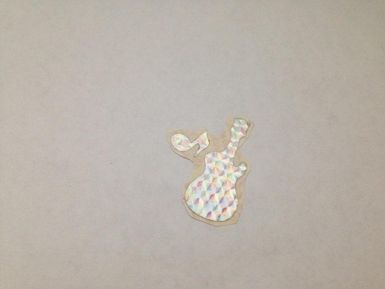 Vintage 1980s Rare Sandylion Prism Guitar Music Notes Stickers