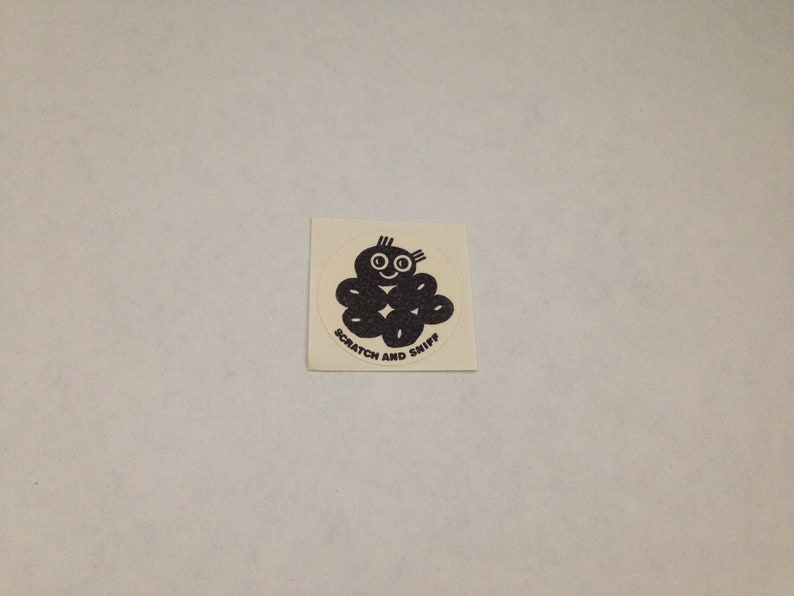 Vintage 1980s Rare CTP Scratch And Sniff Licorice Sticker