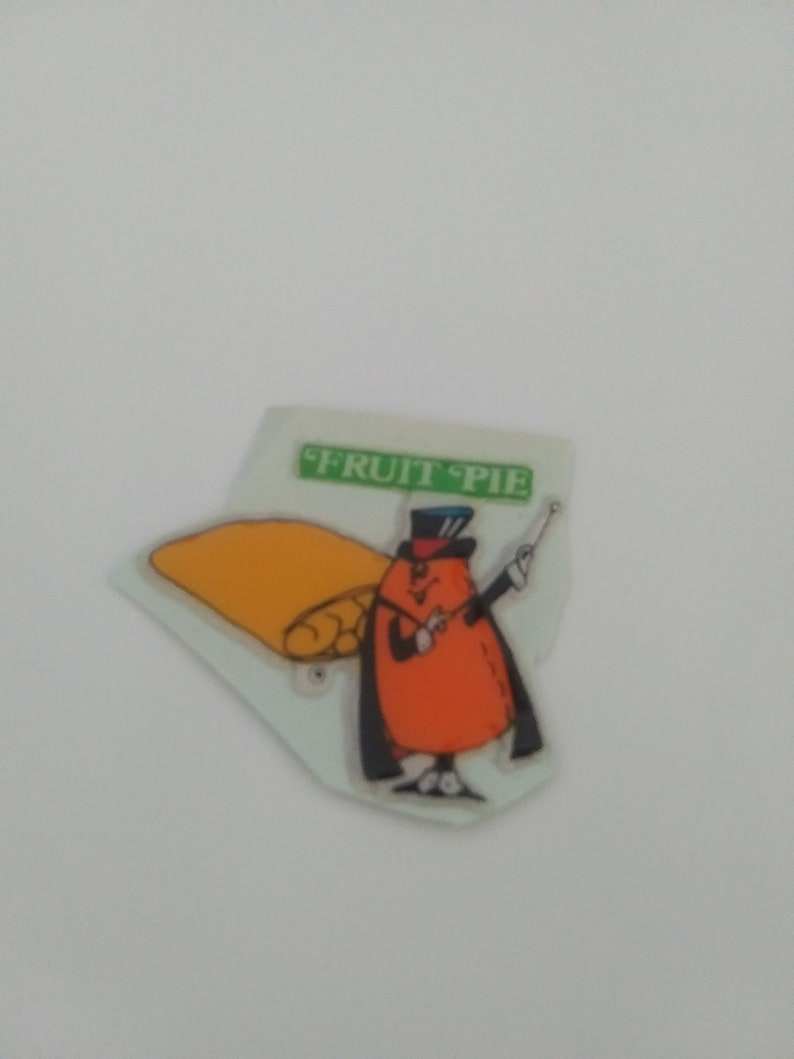 Vintage 1980s Hostess Fruit Pie  Puffy Sticker