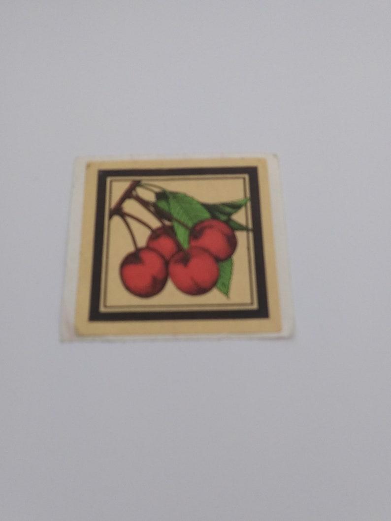 Vintage 1980s Rare Cherry Sticker