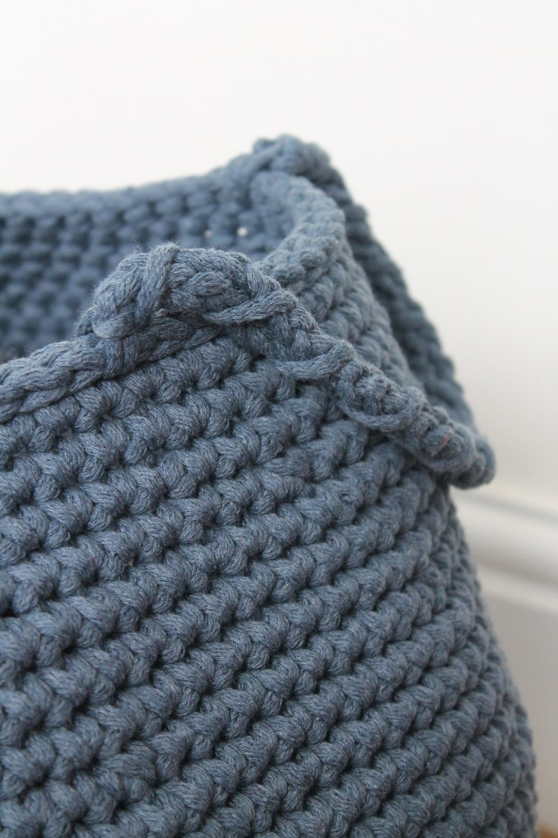 chunky cord chunky cotton rope 5mm DENIM BLUE 100m cotton cord BYYOU chunky rope chunky knit cord thick cotton cord makrame rope