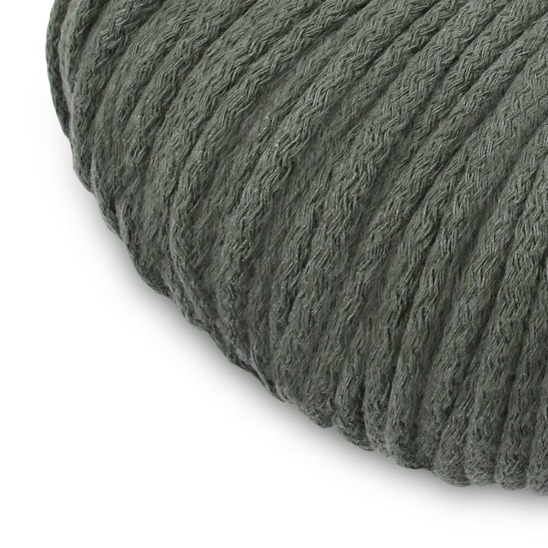 chunky cotton rope thick cotton cord chunky knit cord makrame rope 5mm OLIVE GREEN 100m cotton cord BYYOU chunky cord chunky rope