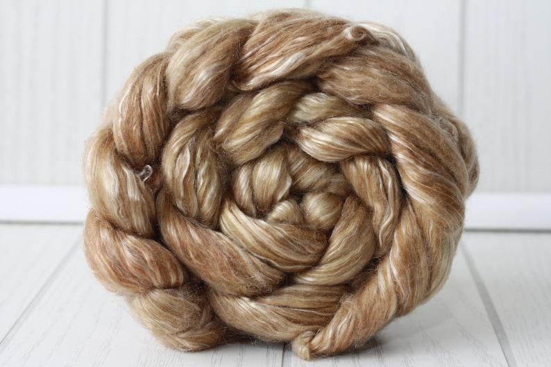 Merino Tencel Wool Roving for Spinning Superwash 113g4oz