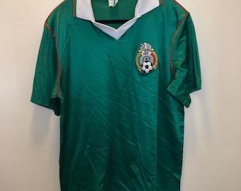 84e9b3a6128 Vintage Mexico Soccer Jersey Shirt