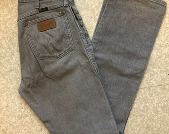 772a9d3a Vintage Made in USA Charcoal Gray Wrangler Jeans 31/34
