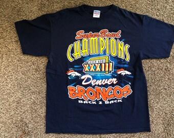 Vintage Super Bowl XXXIII Denver Broncos Shirt dd16ed5a1