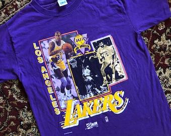d21a8437 Vintage Magic Johnson Lakers T-shirt