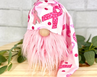 Survivor Gnome | Pink Ribbon Gnome | Cancer Survivor gift