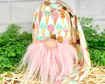 Ice Cream Cone gnome hat | Gnomes | Birthday tiered tray decor | Gnome DIY Kit | Ice Cream Tiered Tray decorations