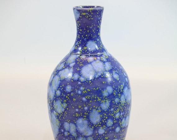 Soft Blue/Purple Bubble-Sparkle Vase II