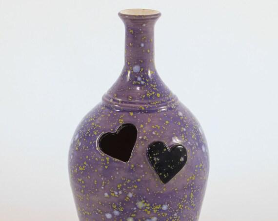 Purple Heart Bottle Vase